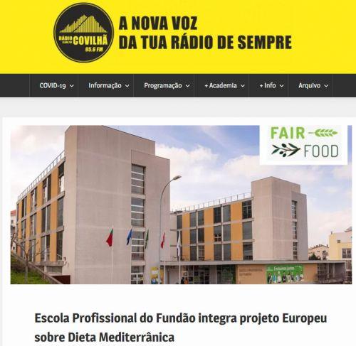 Escola Profissional do Fundão integra projeto europeu sobre Dieta Mediterrânea