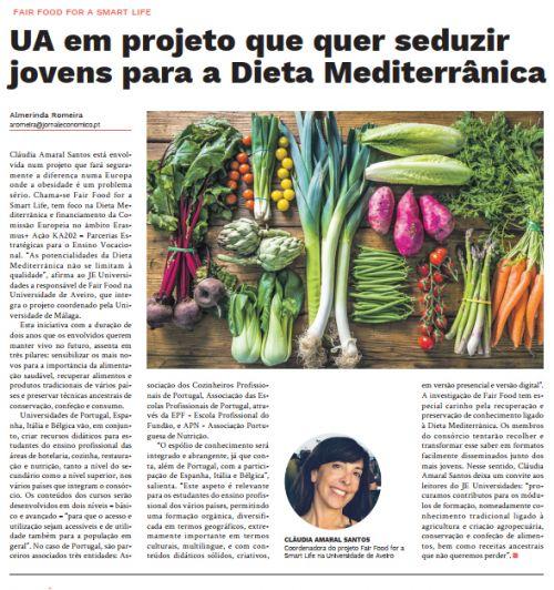 UA em projeto que quer seduzir jovens para a Dieta Mediterrânica