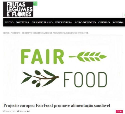 Projeto Europeu FairFood promove alimentação saudável