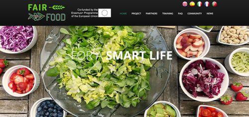 Abertura da página do projeto Fairfood em inglês